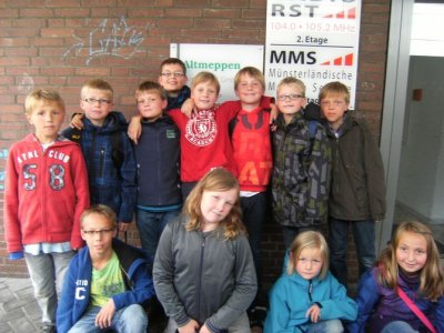Kolping-Kids bei Radio RST